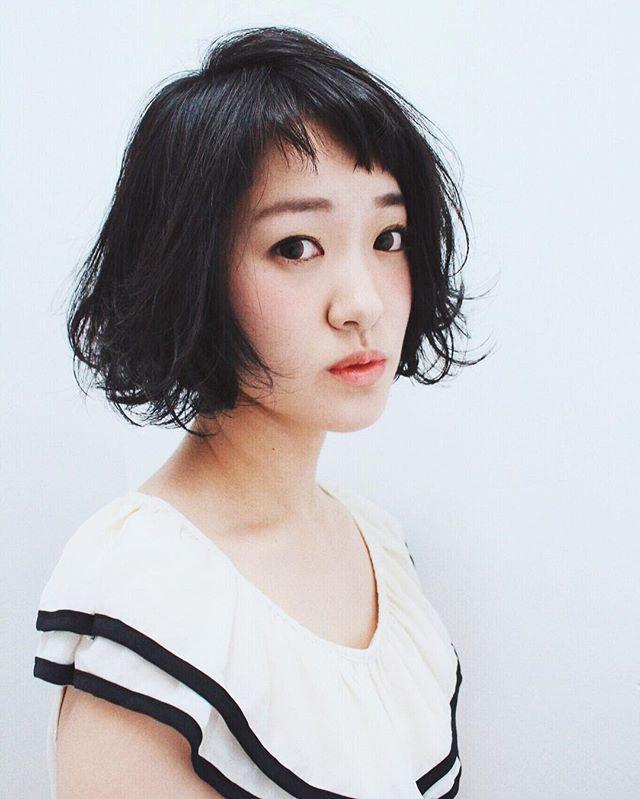 ぱっつんボブ 黒髪4