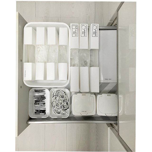 キッチン消耗品収納ケース/ゴミ袋用