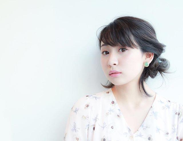 ぱっつんボブ ヘアアレンジ 8