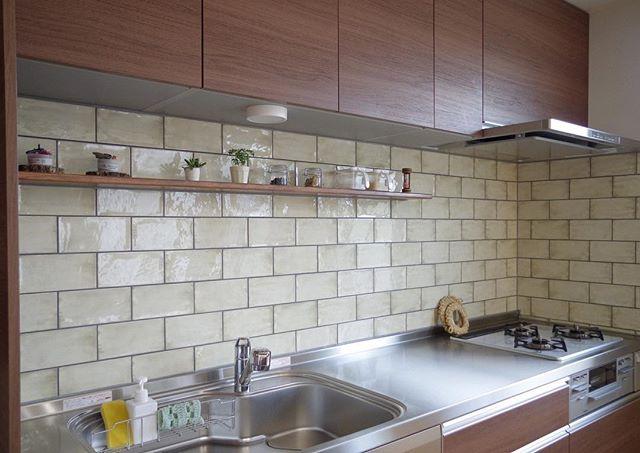 ステンレスキッチン 木材3