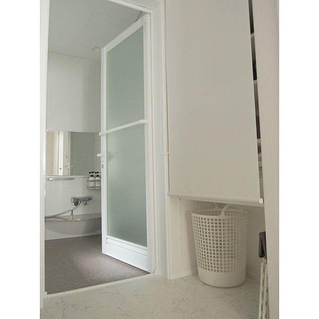 バスルームのかご収納アイデア7