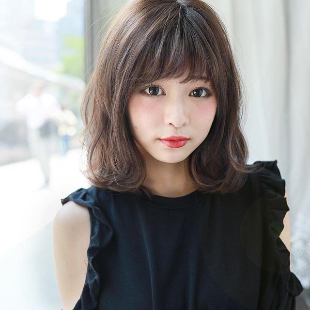 ぱっつんボブ メイク4