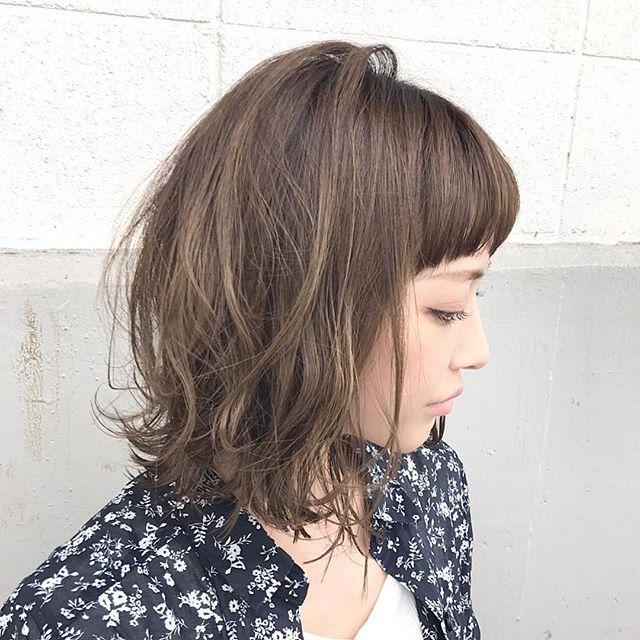 丸顔ぱっつんボブ2