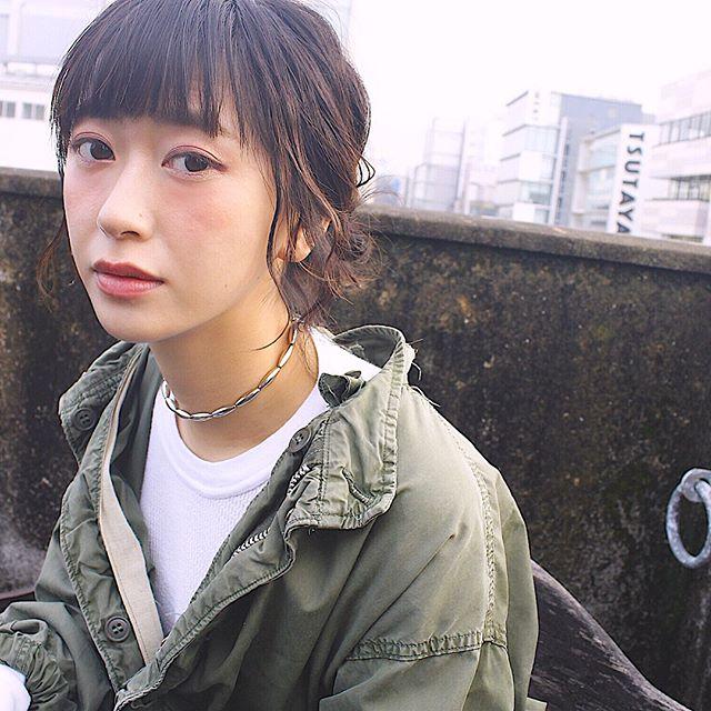 ぱっつんボブ ヘアアレンジ 4