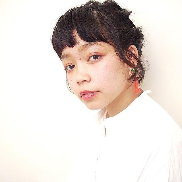 ぱっつんボブ ヘアアレンジ 5