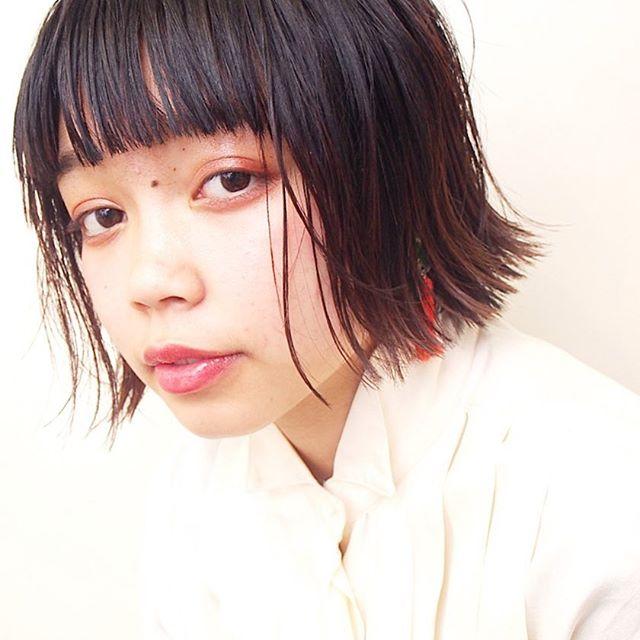 ぱっつんボブ 黒髪2
