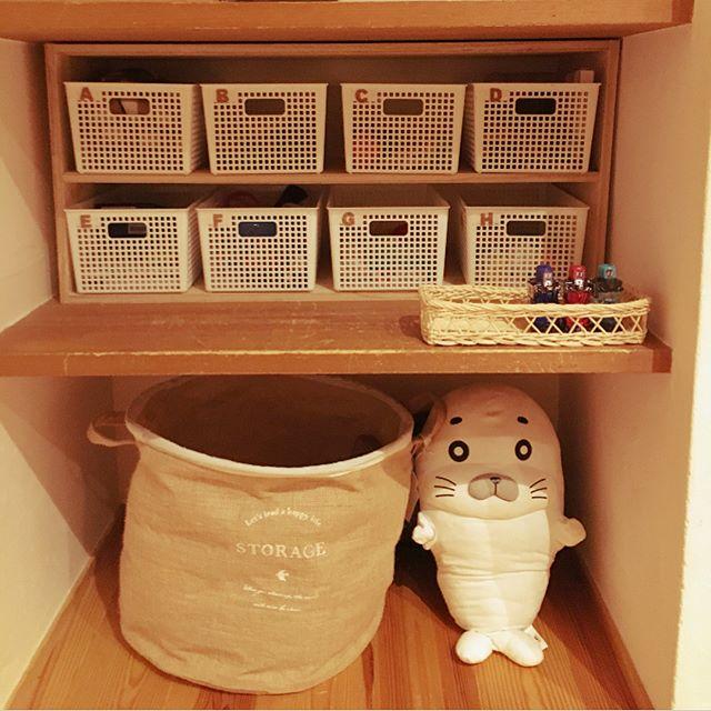クローゼット、棚のかご収納アイデア