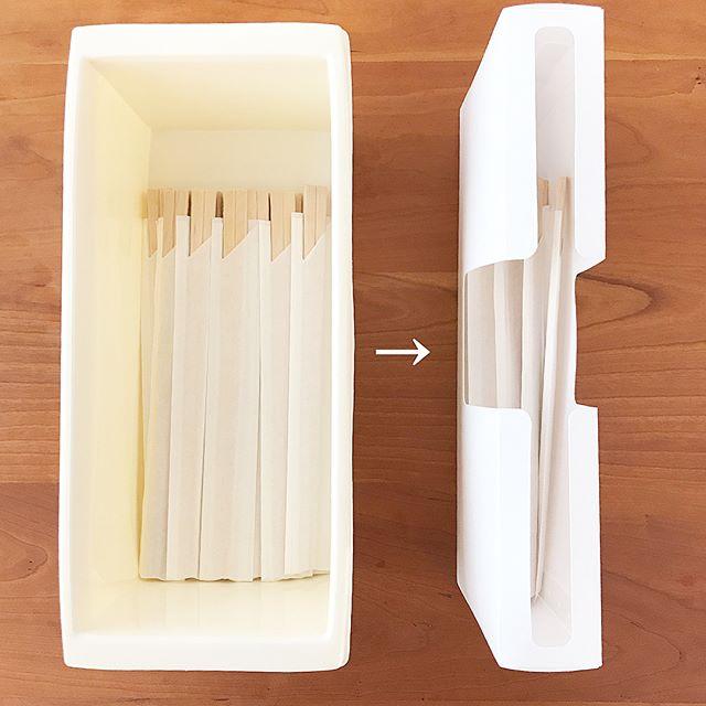 キッチン消耗品収納ケース/ストロー、割り箸用2