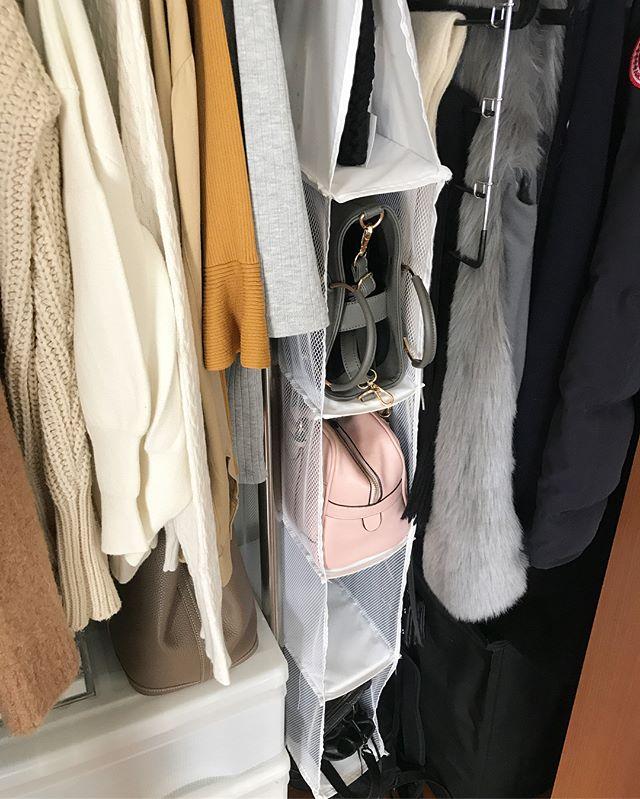 吊るす収納アイデア④ファッション類8
