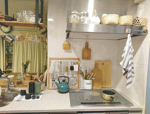 キッチンのかご収納アイデア8