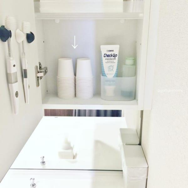 洗面所のコップ収納2