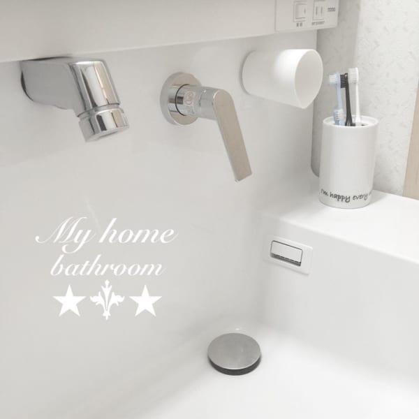 洗面所のコップ収納4