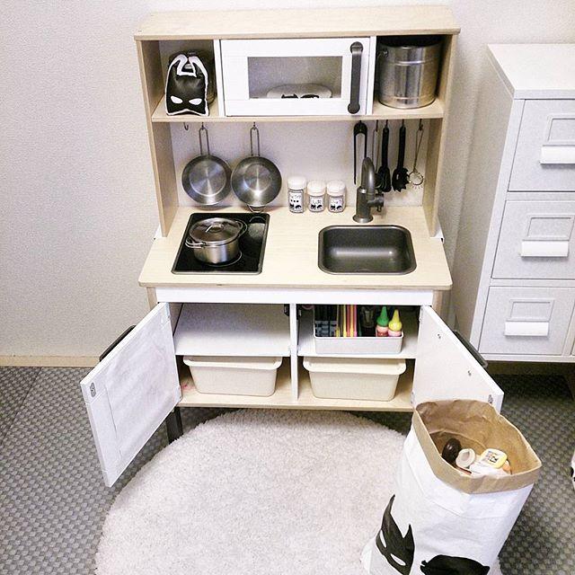 IKEAのアイテムを使用したおもちゃ収納14