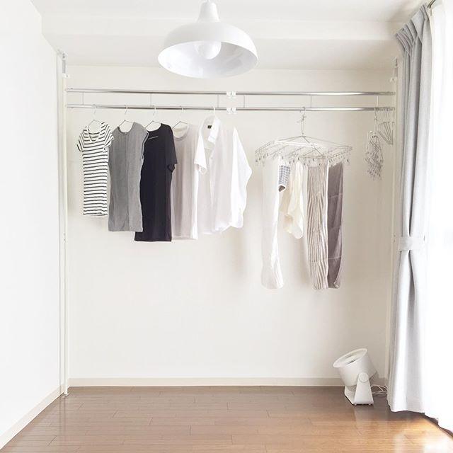 突っ張り棒 衣類収納2