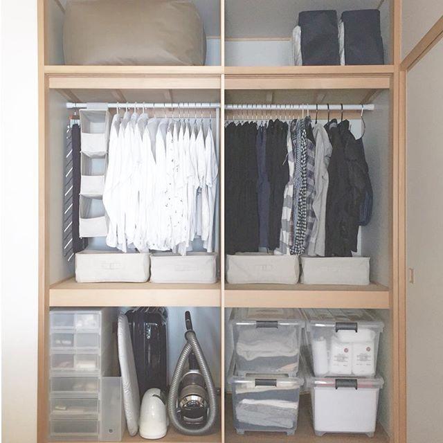 突っ張り棒 衣類収納5