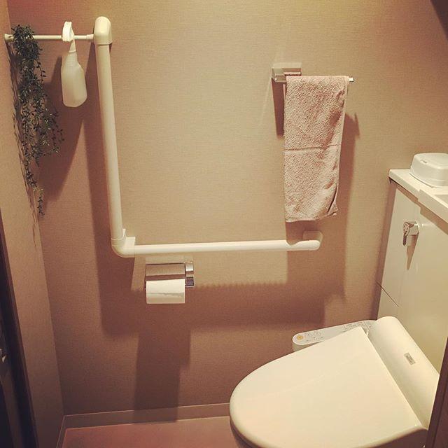 突っ張り棒 トイレ収納