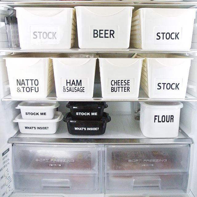 タッパー収納 冷蔵庫・冷凍庫 ラベル9