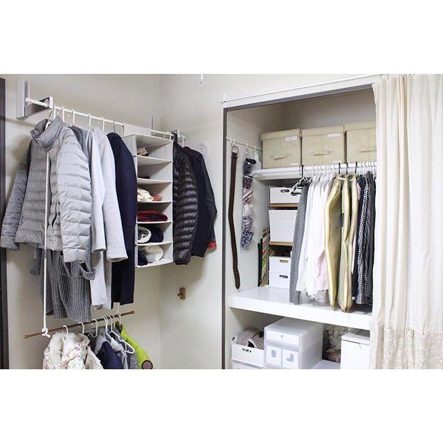 突っ張り棒 衣類収納4
