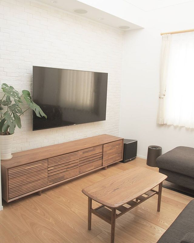 テレビボード ナチュラルインテリアの設置実例