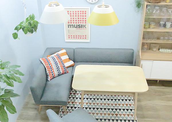 ポイントその2.なるべく背の低い家具を選ぶ4