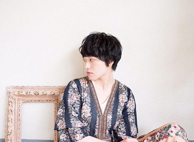 黒髪ベリーショート①パーマスタイル