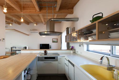 コの字型キッチン3