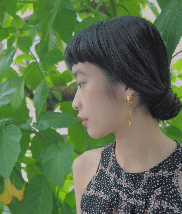 ぱっつん前髪のアレンジヘア10