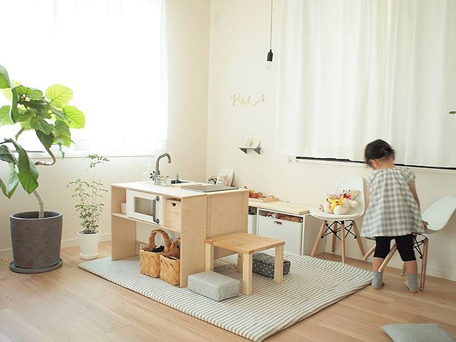 IKEAのアイテムを使用したおもちゃ収納18
