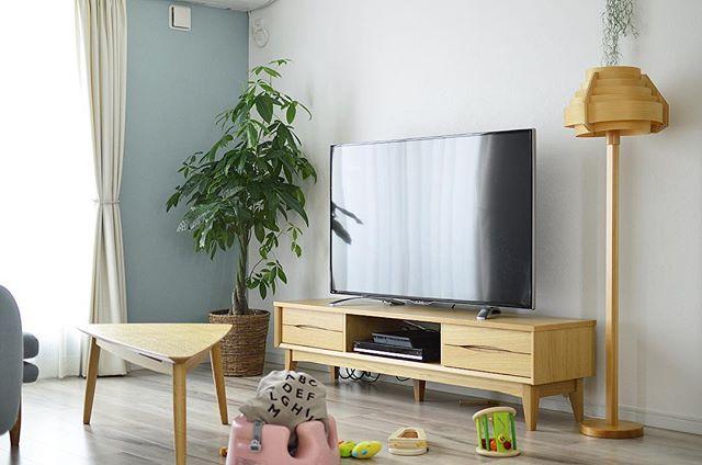テレビボード 北欧インテリアの設置実例