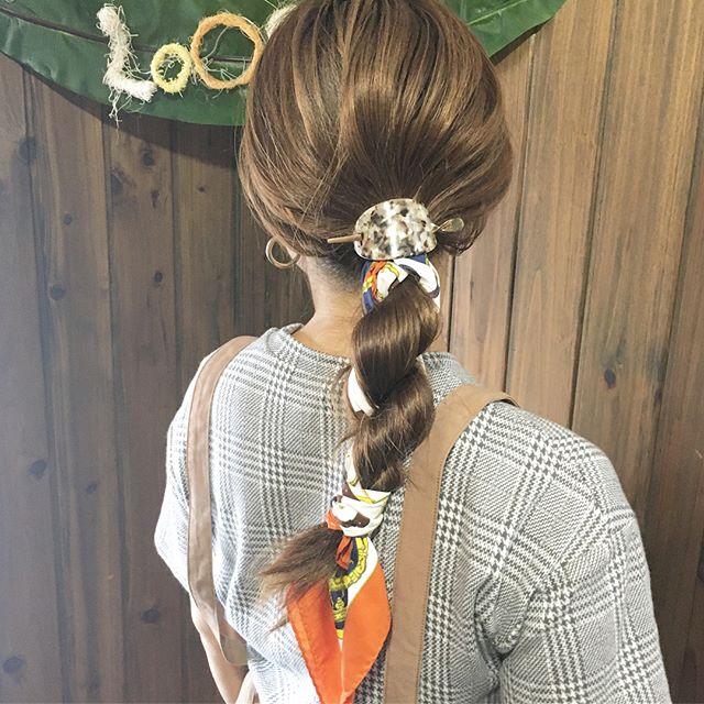 簡単まとめ髪7