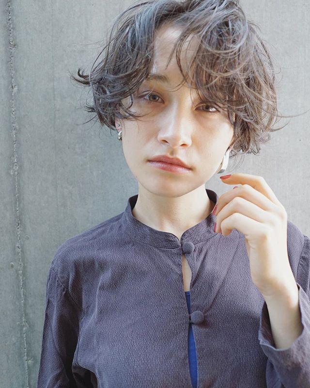 長め前髪パーマ6