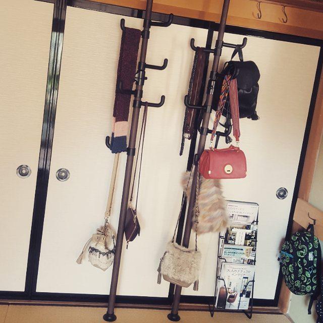 突っ張り棒 衣類収納3