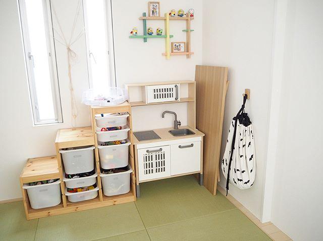 IKEAのアイテムを使用したおもちゃ収納29