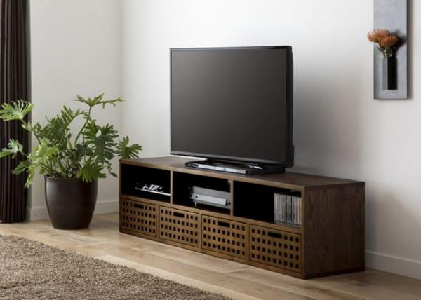 テレビボード アジアンインテリアの設置実例