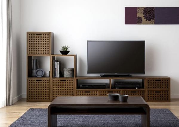 テレビボード アジアンインテリアの設置実例2