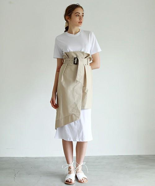 08dcab5ea5b64 出典:http   zozo.jp . カジュアルな白のカットソーワンピース ...
