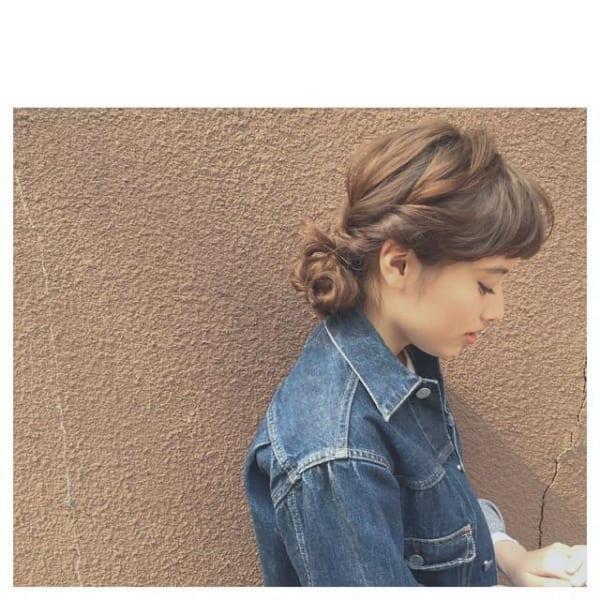 ぱっつん前髪のアレンジヘア19