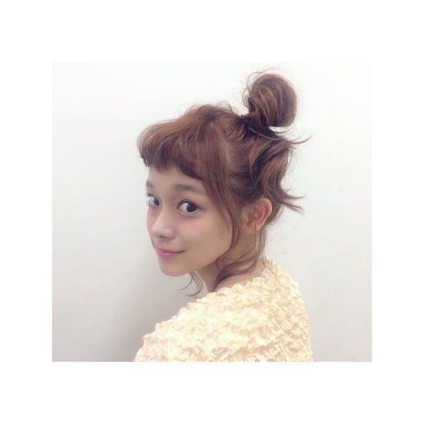 ぱっつん前髪のアレンジヘア2