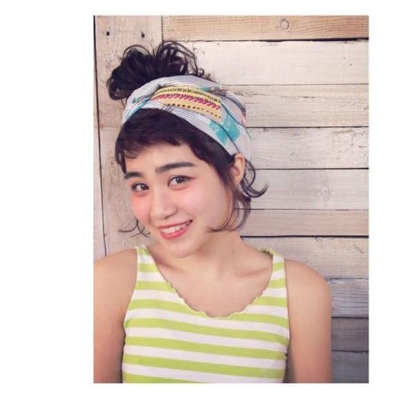 ぱっつん前髪のアレンジヘア3