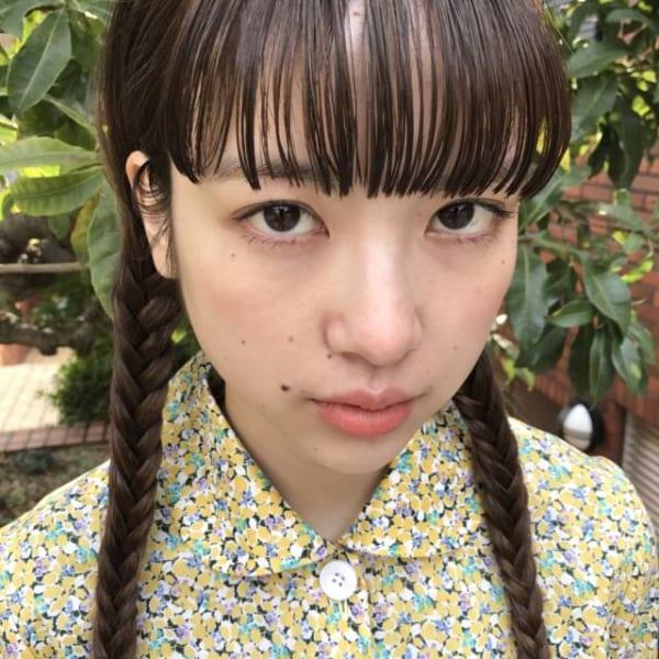 ぱっつん前髪のシースルーバング8