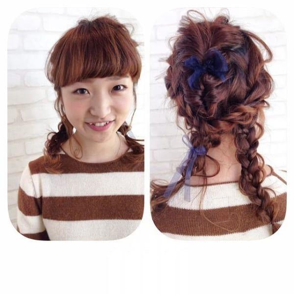 ぱっつん前髪のアレンジヘア14