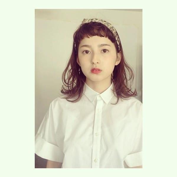 ぱっつん前髪のアレンジヘア4