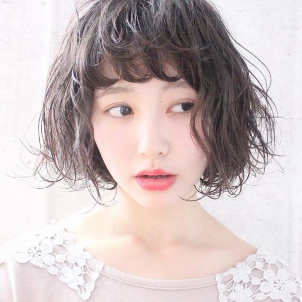 眉上前髪パーマ11