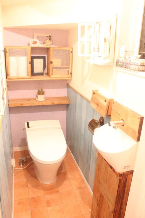 突っ張り棒 トイレ収納4