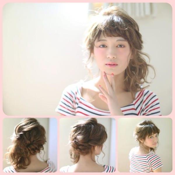 ぱっつん前髪のアレンジヘア17