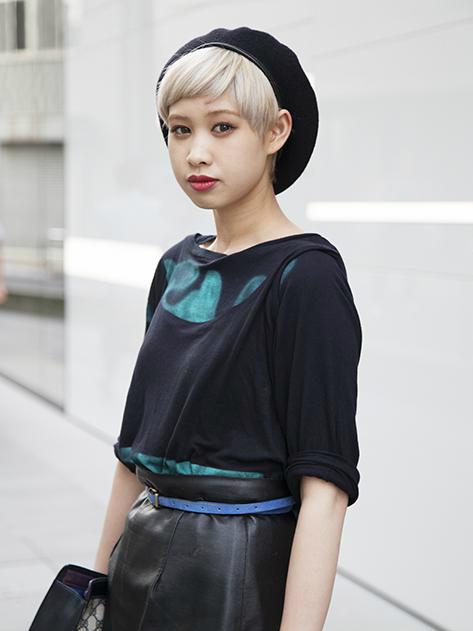 ぱっつん前髪のアレンジヘア8