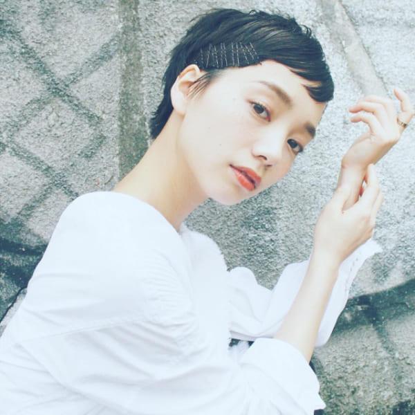 黒髪ベリーショート④前髪あり10