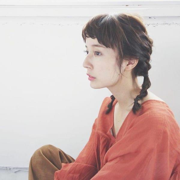 ぱっつん前髪のアレンジヘア13