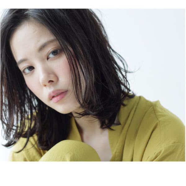 黒髪 ミディアムボブスタイル3