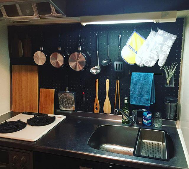 一人暮らし キッチン収納9
